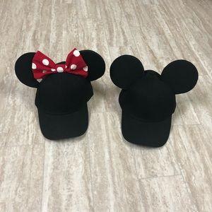 Disney Mickey Minnie matching couple Caps